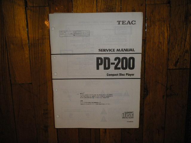 PD-200 CD Player Service Manual