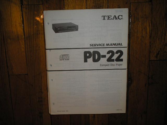 PD-22 CD Player Service Manual