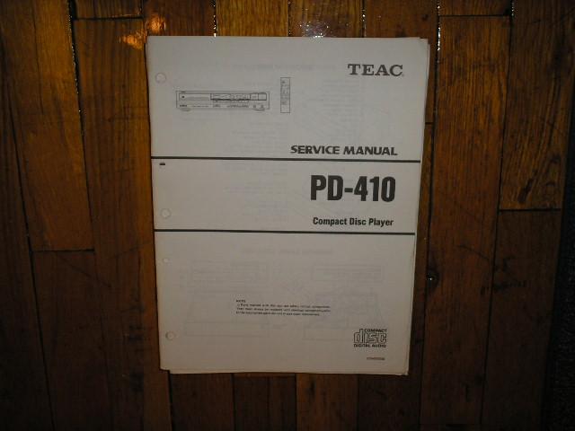 PD-410 CD Player Service Manual