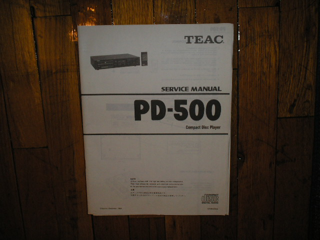 PD-500 CD Player Service Manual