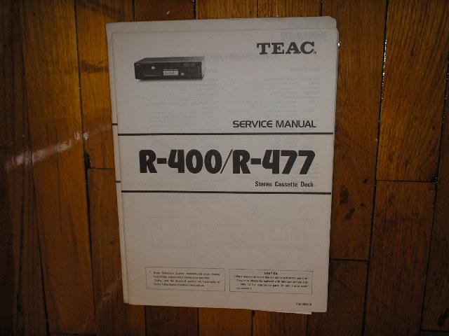R-400 R-477 Cassette Deck Service Manual