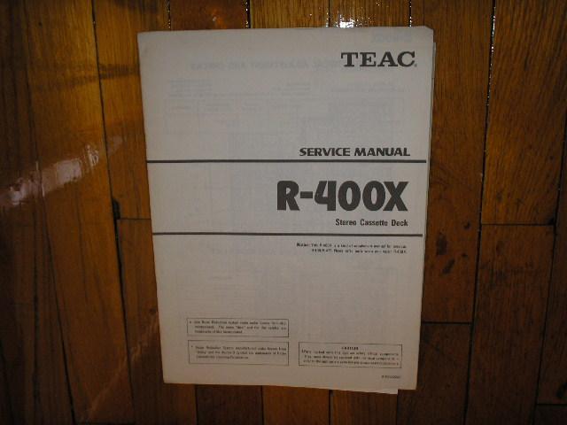 R-400X Cassette Deck Service Manual