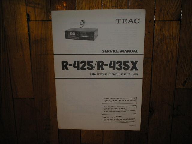 R-425 R-435X Cassette Deck Service Manual