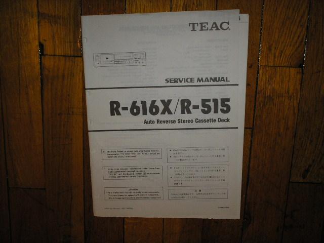 R-515 R-616X Cassette Deck Service Manual