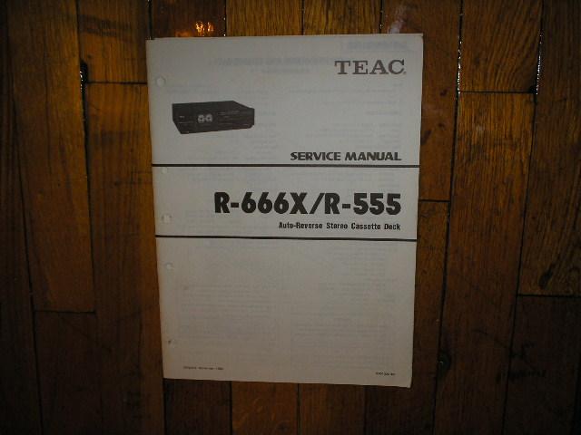 R-555 R-666X Cassette Deck Service Manual