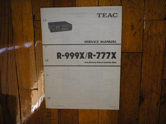 R-777X R-999X Cassette Deck Service Manual
