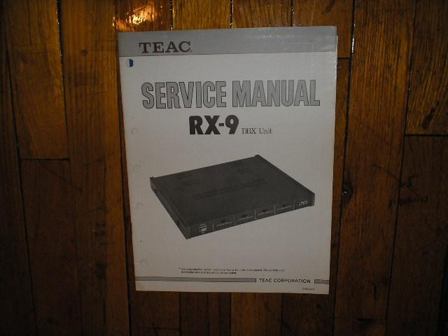RX-9 DBX Noise Reduction Unit Service Manual
