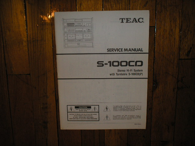 S-100CD Stereo System Service Manual