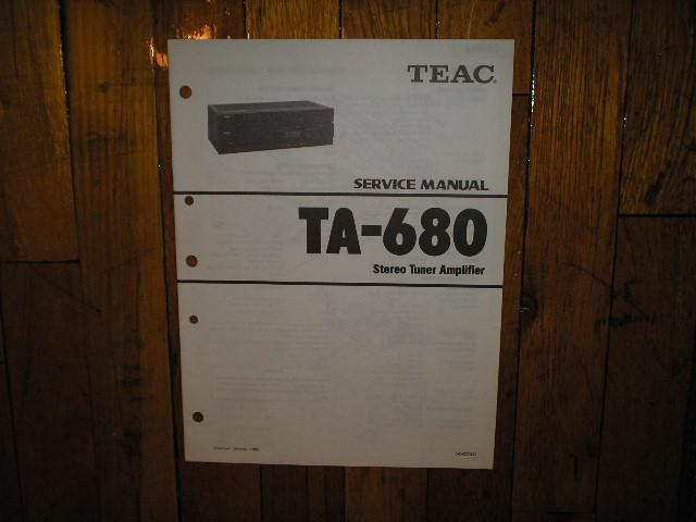 TA-680 Tuner Service Manual