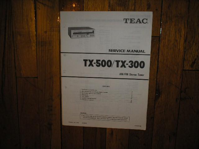 TX-300 TX-500 Tuner Service Manual