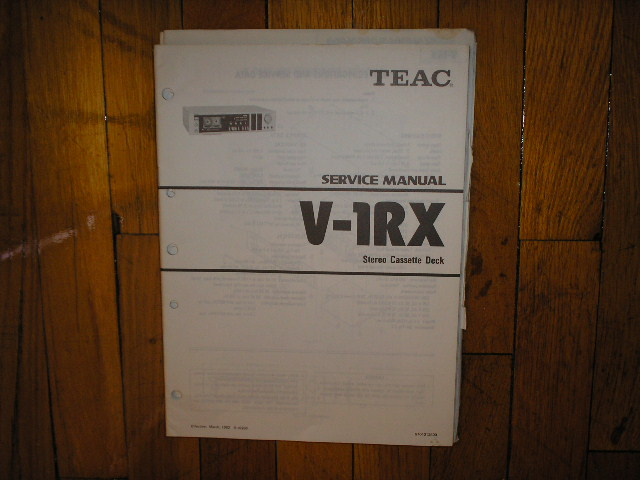 V-1RX Cassette Deck Service Manual