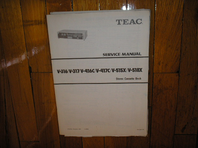 V-316 V-317 V-416C V-417C V-515X V-518X Cassette Deck Service Manual