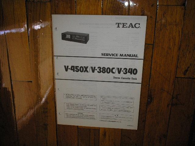 V-340 V-380C V-450X Cassette Deck Service Manual