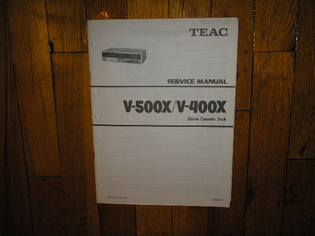 V-400X V-500X Cassette Deck Service Manual