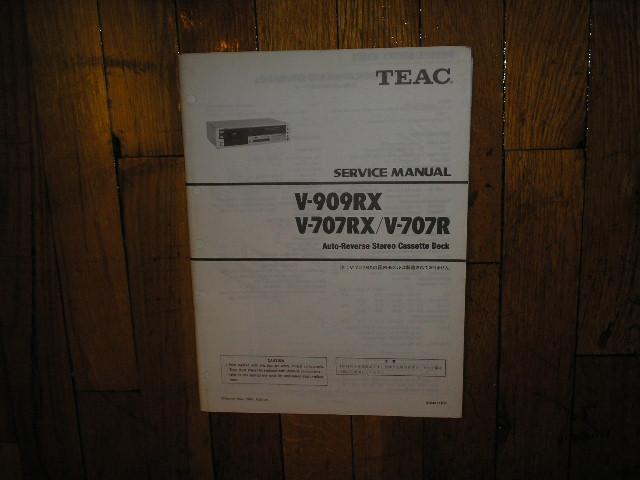 V-707R V-707RX V-909RX Cassette Deck Service Manual