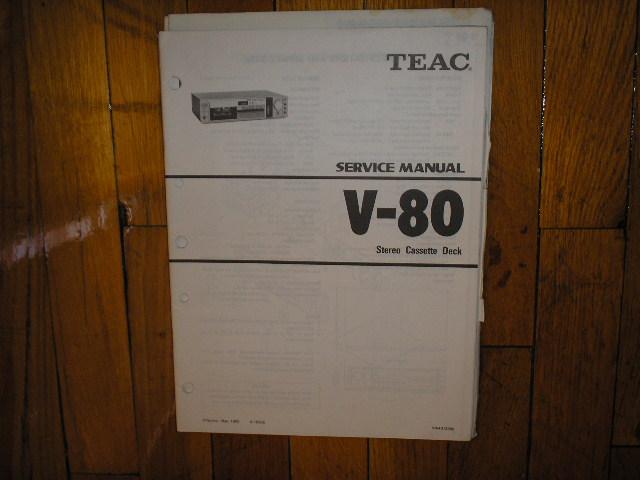 V-80 Cassette Deck Service Manual