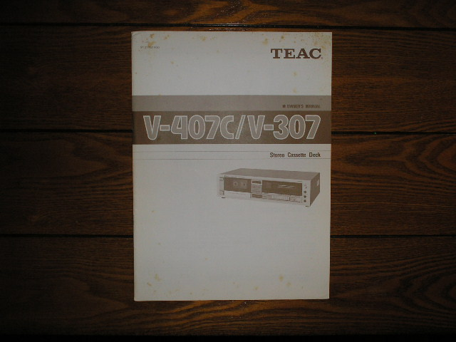 V-307 V-407C Cassette Deck Owners Manual