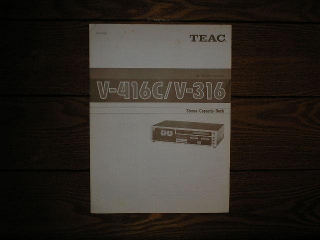 V-316 V-416C Cassette Deck Owners Manual