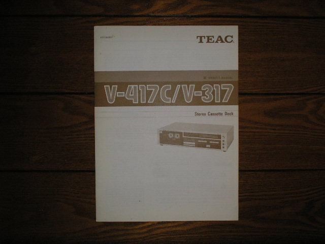 V-317 V-417C Cassette Deck Owners Manual
