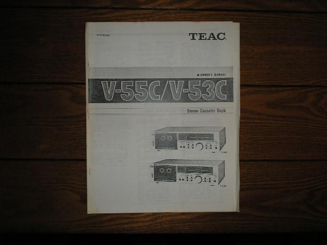 V-53C V-55C Cassette Deck Owners Manual