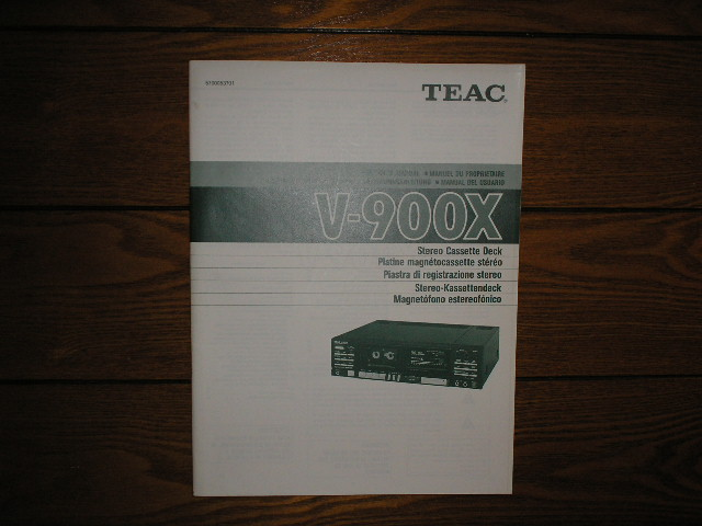V-900X Cassette Deck Owners Manual