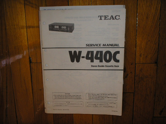 W-440C Cassette Deck Service Manual