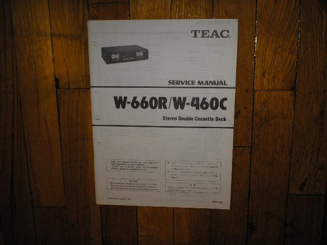 W-460C W-660R Cassette Deck Service Manual