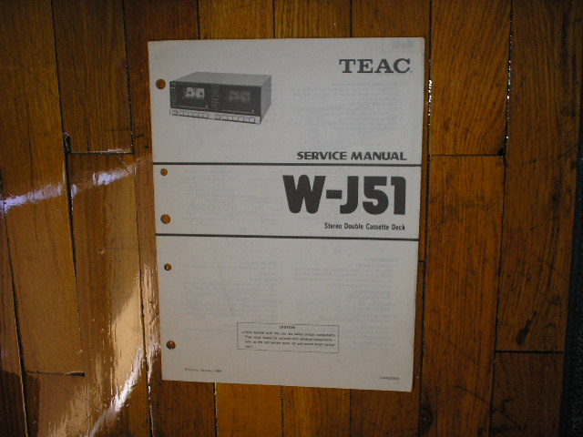 W-J51 Cassette Deck Service Manual