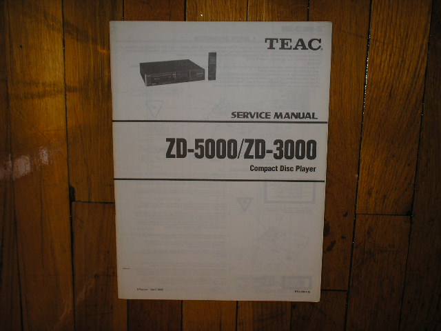 ZD-3000 ZD-5000 CD Player Service Manual