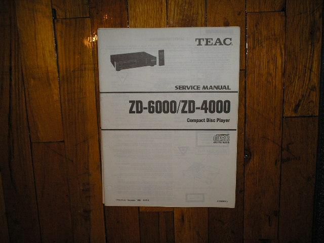 ZD-4000 ZD-6000 CD Player Service Manual
