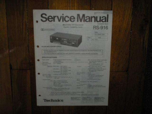 RS-916 Cassette Deck Service Manual