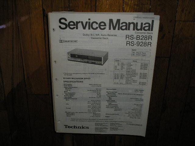 RS-928R Cassette Deck Service Manual