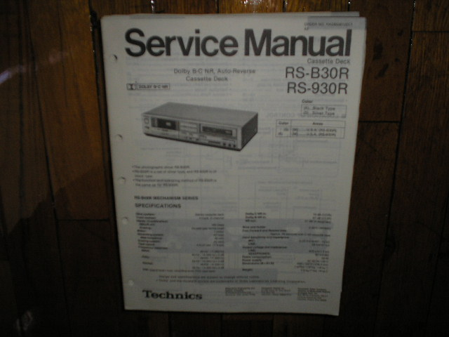 RS-930R Cassette Deck Service Manual