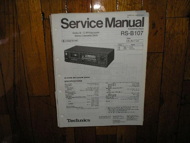 RS-B107 Cassette Deck Service Manual
