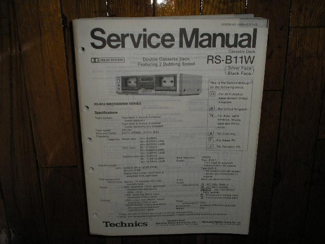 RS-B11W Cassette Deck Service Manual.  2 Manuals