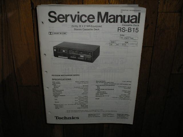 RS-B15 Cassette Deck Service Manual