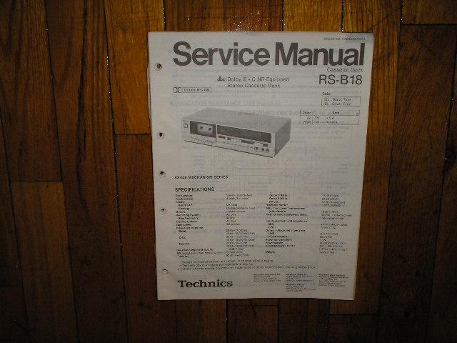 RS-B18 Cassette Deck Service Manual