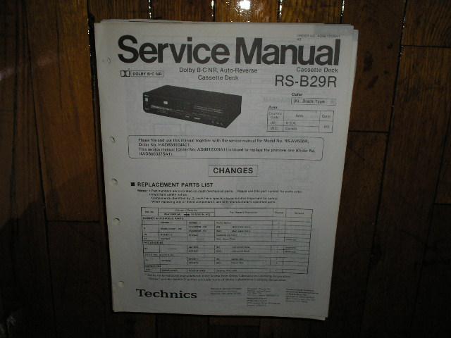 RS-B29R Cassette Deck Service Manual