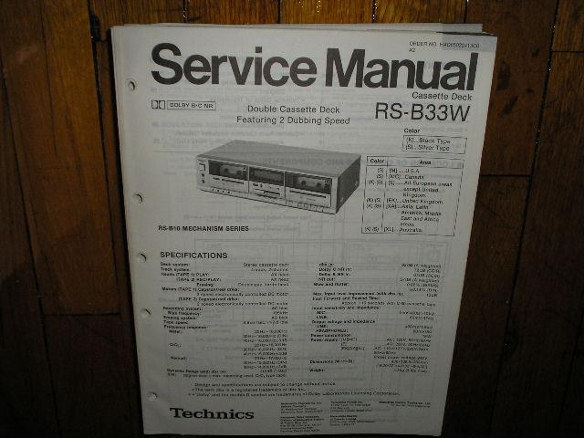 RS-B33W Cassette Deck Service Manual