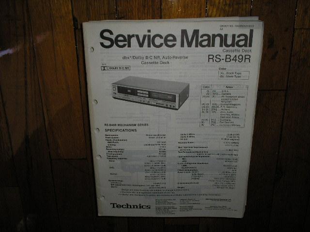 RS-B49R Cassette Deck Service Manual
