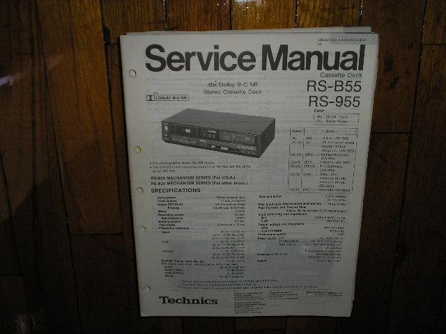 RS-B55 RS-955 Cassette Deck Service Manual