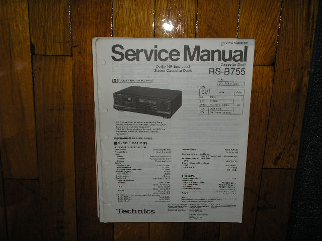 RS-B755 Cassette Deck Service Manual