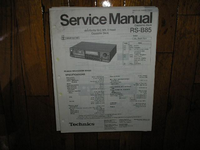 RS-B85 Cassette Deck Service Manual