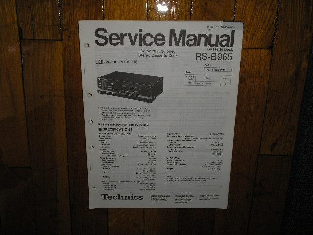 RS-B965 Cassette Deck Service Manual