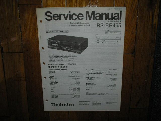 RS-BR465 Cassette Deck Service Manual
