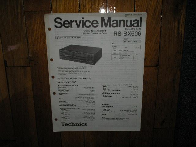 RS-BX606 Cassette Deck Service Manual