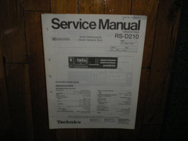 RS-D210 Cassette Deck Service Manual