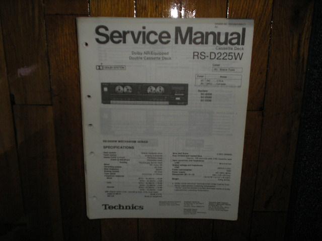 RS-D225W Cassette Deck Service Manual