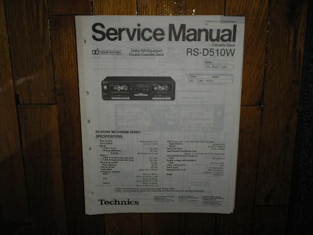RS-D510W Cassette Deck Service Manual