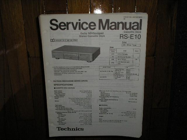 RS-E10 Cassette Deck Service Manual